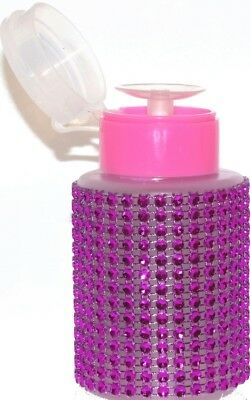 PUMP-DISPENDER mit Straßsteine 170ml ++PINK STRASS/pink Deckel/weißer Dispender+