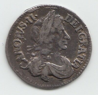 1679 Silver Threepence 3d - Charles II