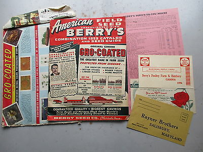 American Field Seed/Berry Seed Company Catalog Mailer from 1953