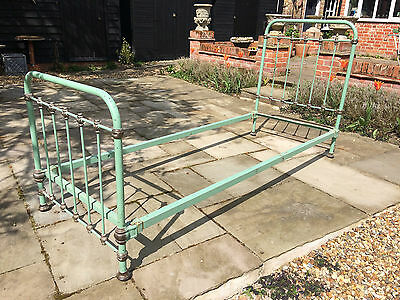 Antique French single bed Circa 1900