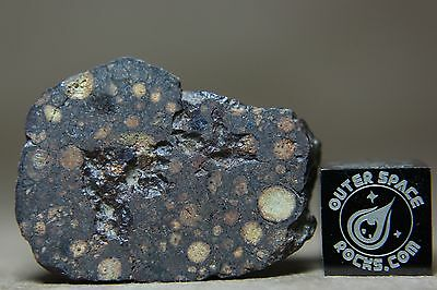 NWA 801 CR2 Meteorite 11.8 gram partially windowed fragment