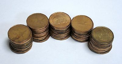 Bulk Lot of 50 Circulated, Assorted Canadian One Dollar Coins