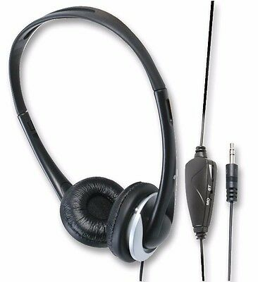 Stereo TV Headphones with 6m Lead and Volume Control