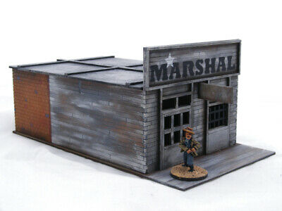Old West Cowboy WESTERN TOWN – 6 Buildings plus Corral pack 25mm, 28mm Terrain