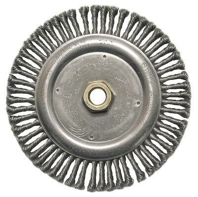 "Weiler 09000 6-7/8"" X 5/8""-11 Twist Knot Wire Wheel Brush For St. & Rt Ang."