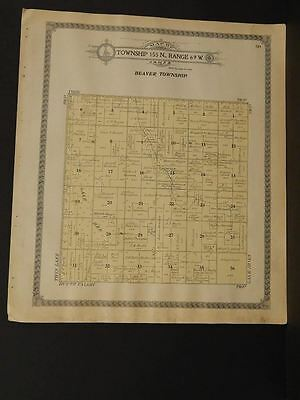 North Dakota Benson County Map Beaver Township 1910   L8#08