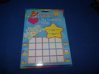 Care Bears My Learning Chart Pad New