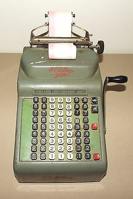 Vintage R. C. Rc Allen Business Machines Adding Machine Model # 70