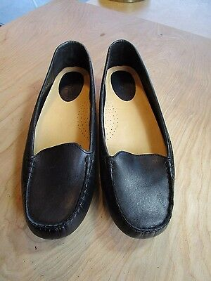 Cole Haan Nike Air Black Leather Loafer Slip On Shoes Size Women's 9.5 B