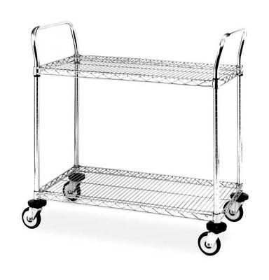 Wire Cart,18 In. W,48 In. L,Chrome METRO 4W649