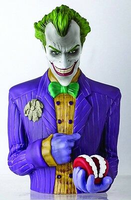 ARKHAM ASYLUM JOKER PREVIEWS EXCLUSIVE BUST BANK 8 INCHES TALL NEW #smar17-120