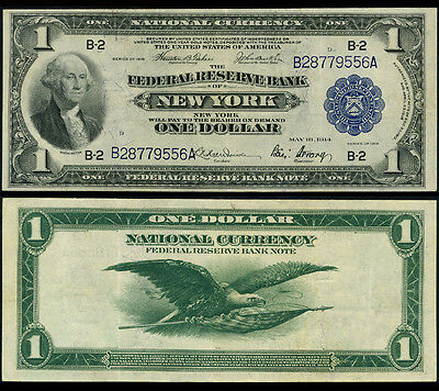 FR. 712 $1 1918 Federal Reserve Bank Note New York Very Fine+