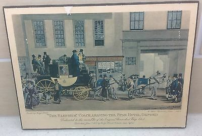 Vintage Rare Athena Print 1831 The Blenheim Coach Leaving The Star Hotel, Oxford