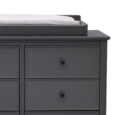 New Delta Children Bennington Elite Changing Table Topper - Charcoal Grey