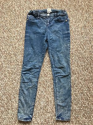 Girls River Island Blue Denim Jeans Age 11