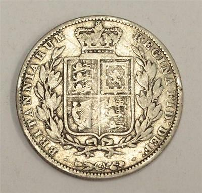 1849 small date Great Britain Half Crown Very Good condition VG8 original
