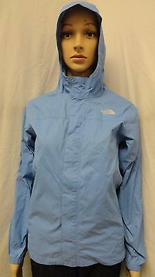 Girls The North Face blue full zip hooded hyvent jacket size- L