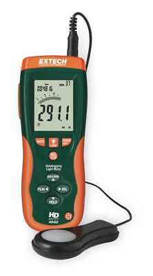EXTECH HD450 Light Meter, 0.01-40, 000 Fc, Data Logging