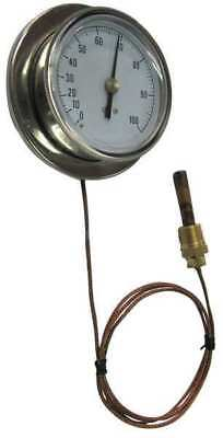 13G235 Analog Panel Mt Thermometer, 0 to 160F
