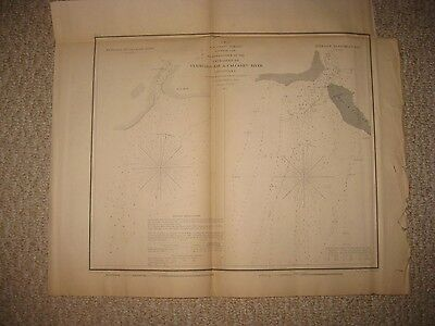 Antique 1855 Vermilion Bay Calcasieu River Louisiana Map Dated In Title Rare Nr