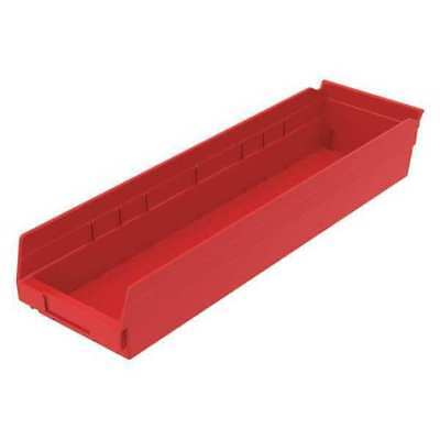 "Red Shelf Bin, 23-5/8""L x 6-5/8""W x 4""H AKRO-MILS 30164RED"