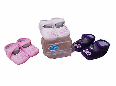 BNWT babys Girls pink or lilac or beige corduroy shoes 0-3   3-6   6-9 months