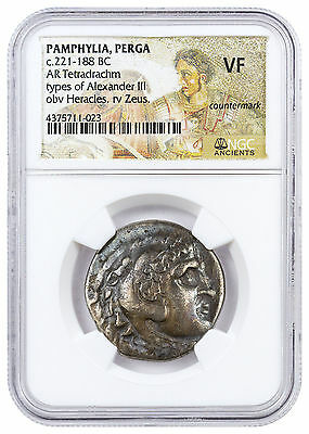 Greece, Alexander the Great Silver Tetradrachm Late Posthumous NGC VF SKU46408