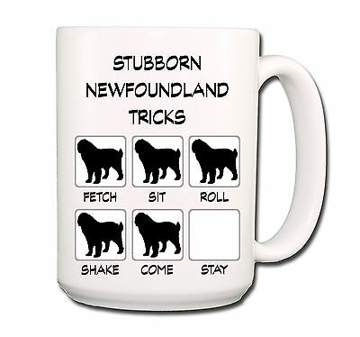 NEWFOUNDLAND Stubborn Tricks EXTRA LARGE 15oz COFFEE MUG