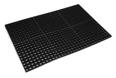 WEARWELL 474 Antifatigue Drainage Runner, Blk, 3x10 ft.