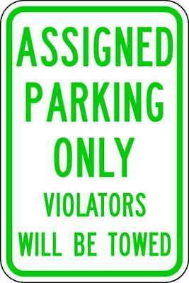 Parking Sign,18 x 12In,GRN/WHT,Text