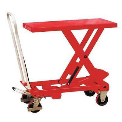 DAYTON 33W286 Scissor Lift Cart, 1100 lb., Steel, Fixed