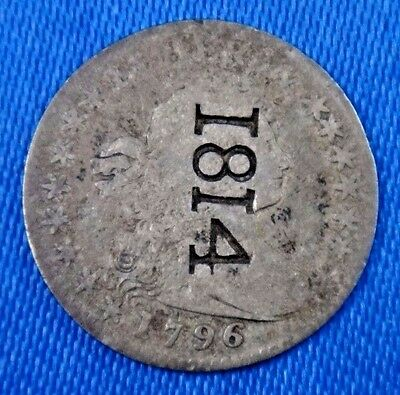 1796 H10C LIKERTY Draped Bust Half Dime Type 1 Small Eagle