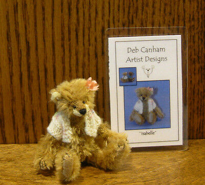 """DEB CANHAM Artist Designs ISABELLE, Various Bears COLL. LE 3.75"""" jointed mohair"""