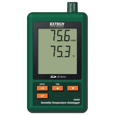 Thermistor Temperature and Humidity Data Logger, Extech, SD500