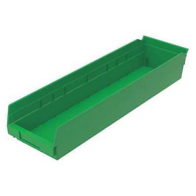 Shelf Bin, 23-5/8 In. L,6-5/8 In. W,4 In H AKRO-MILS 30164GREEN