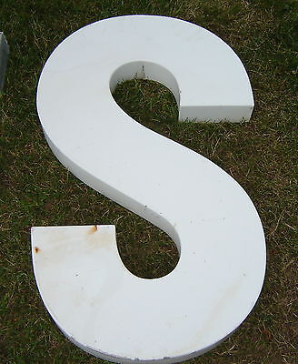 Large Metal Letter S 37 1/2 High
