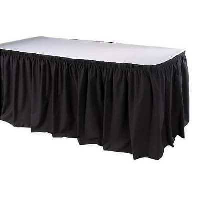 17-1/2 ft. Table Skirt, Black ,Phoenix, TSKT-17-BK