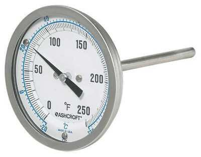 Dial Thermometer,Fits 1/2 in Pipe ASHCROFT 30EI60R