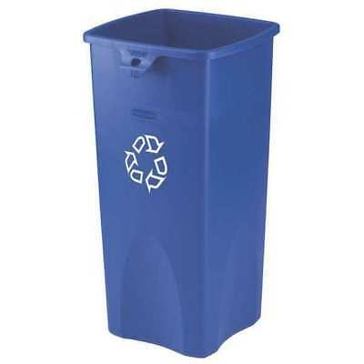 23 gal. Recycling Container Rectangular, Blue Plastic RUBBERMAID FG356973BLUE
