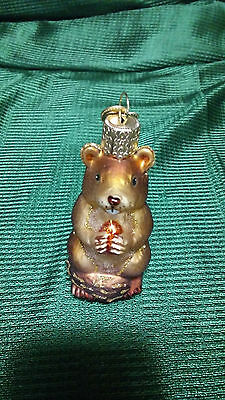 Old World Glass Christmas Chipmunk Ornament 3 Inches Tall # 12145