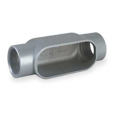 KILLARK C67 Conduit Body, C Style, 2 In, Gray Iron