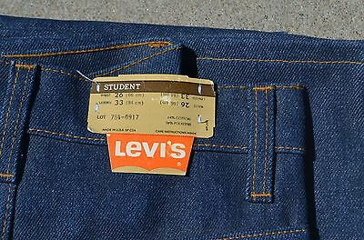 vtg 70's NOS NEW Levis Dura Plus 26 x 33 student jeans bell bottoms orange tag