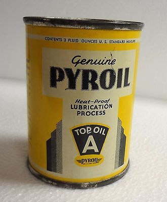 Vintage PYROIL TOP OIL A Can Advertising Bank