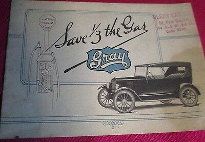 Antique Gray Automobile The Economy Car Advertising Brochure Booklet Berry Car C