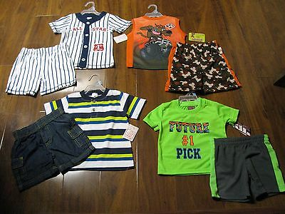 New 8 Pc. Lot Baby Boys Clothes 18 Months Spring Summer Outfits 18M Sets NWT