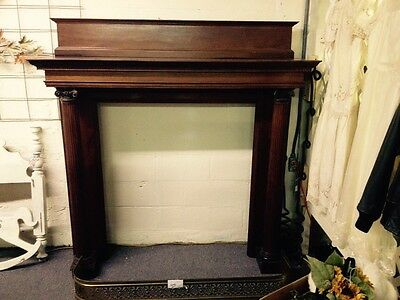 Antique 1920s Mahogany Fireplace mantle Columns
