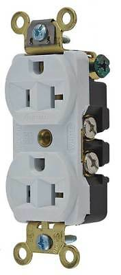 20A Duplex Receptacle 125VAC 5-20R WH HUBBELL WIRING DEVICE-KELLEMS HBL5352W