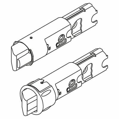 "KWIKSET 19831 SA DL 6WAL GR Replacement Latch Core, 2-3/8"" and 2-3/4"""