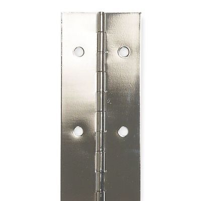 "ZORO SELECT 1CCL3 1-1/2""W x 48""H Bright Nickel Continuous Hinge"