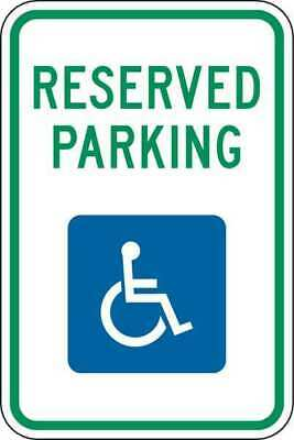 Parking Sign,18 x 12In,GRN and BL/WHT
